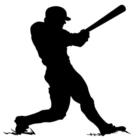 Baseball Player Silhouette Clip Art
