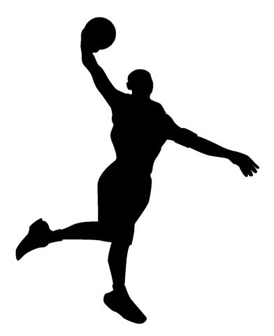 basketball player silhouette 1 decal sticker