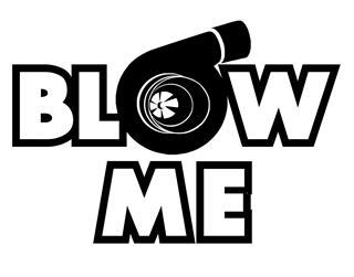 Blow Me Turbo Decal Sticker