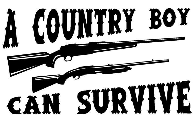 Country Boy Can Survive Decal Sticker - Country boy decals for trucks