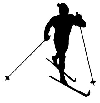 Cross Country Skiing Decal Sticker