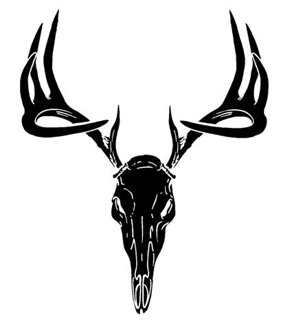 Deer Skull Decals on camo deer head clip art