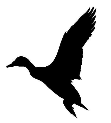 Duck Hunting Silhouette Duck silhouette 1 decal