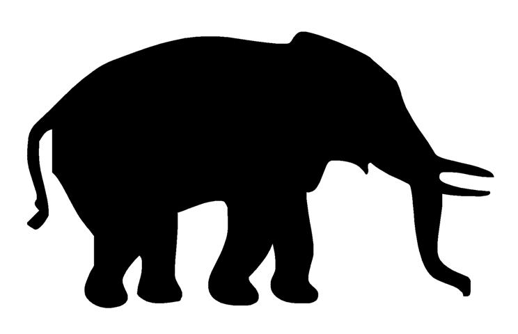 Indian Elephant Silhouette