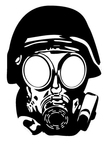 Gas Mask Silhouette Gas mask 1 decal stickerGas Mask Silhouette Vector