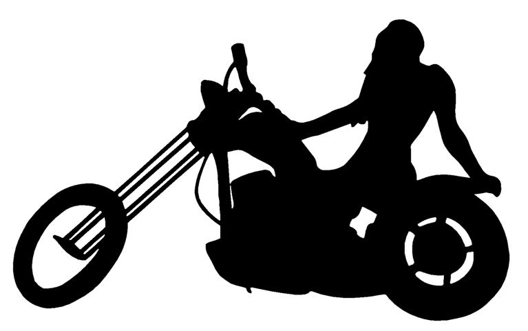 Motorcycle Racing Silhouette Girl on chopper silhouette ( ...