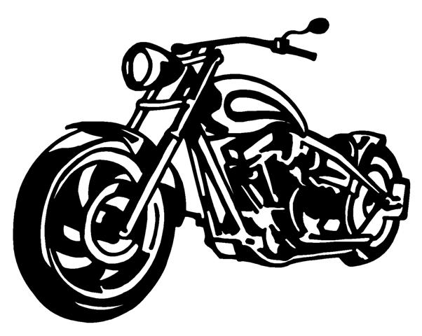 Chopper Motorcycle Decals Stickers - Motorcycle stickers