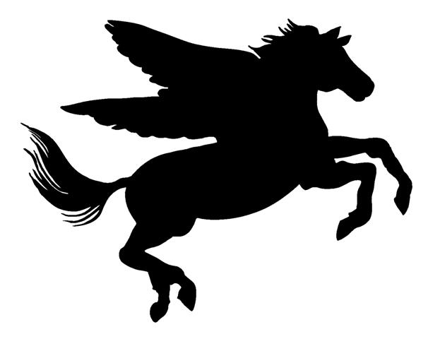 the gallery for gt unicorn with wings silhouette