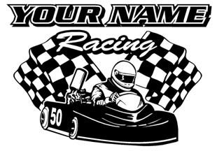 Personalized Go Kart Racing v10 Decal Sticker