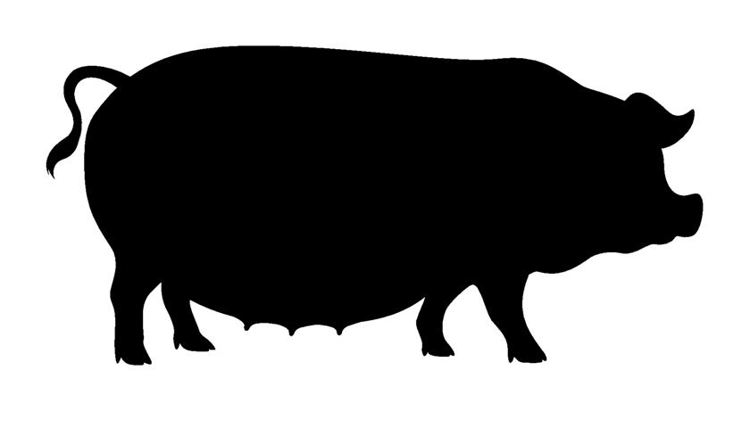 Image Gallery pig silhouette