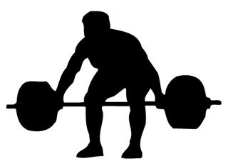 Powerlifter Silhouette 2 Decal Sticker
