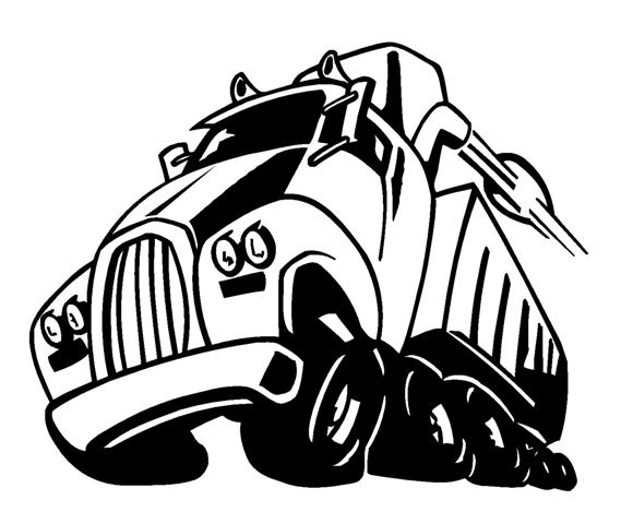 Semi Truck Cartoon Image Semi Truck Cartoon Decal