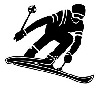 Skiing 5 Decal Sticker