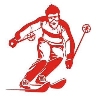 Skiing 8 Decal Sticker