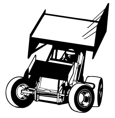 Sprint Cars Clipart Sprint car front view 1