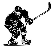 Hockey Player v1 Decal Sticker