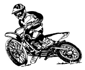 Motocross Racer v9 Decal Sticker