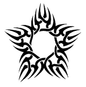 Tribal Star Decal Sticker