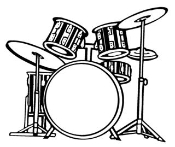 Drum Set v1 Decal Sticker