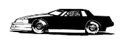 Stock Car 1 Decal Sticker