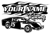 Personalized Modified Racing v6 Decal Sticker