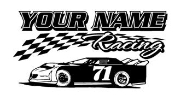 Personalized Late Model Racing 1 Decal Sticker