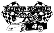 Personalized Late Model Racing v3 Decal Sticker