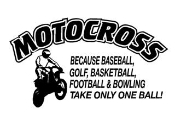 Motocross Takes Balls Decal Sticker