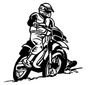 Motocross Racer v3 Decal Sticker
