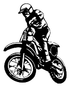 Motocross Racer v4 Decal Sticker