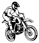 Motocross Racer v5 Decal Sticker
