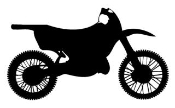 Motocross Bike Silhouette Decal Sticker