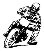Flat Track Motorcycle Racer v1 Decal Sticker