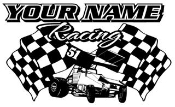 Personalized Sprint Car Racing v3 Decal Sticker