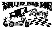 Personalized Sprint Car Racing v5 Decal Sticker