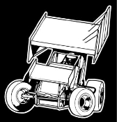 Sprint Car Front View v3 Decal Sticker