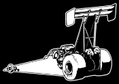 Top Fuel Dragster Rear View Decal Sticker