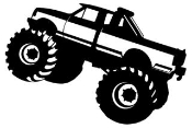 Monster Truck v1 Decal Sticker