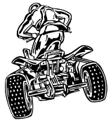 ATV Rear View v1 Decal Sticker