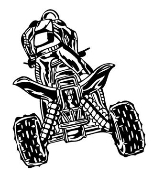 ATV Rear View v2 Decal Sticker