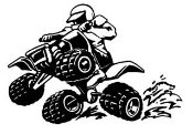 ATV Wheelie v2 Decal Sticker
