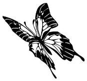 Butterfly v3 Decal Sticker