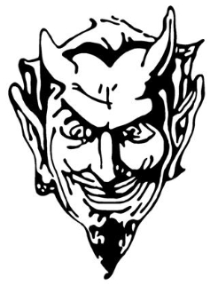 Devil Head v1 Decal Sticker
