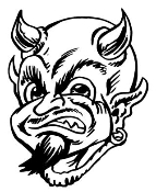Devil Head v6 Decal Sticker