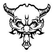 Devil Head v9 Decal Sticker