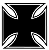 Maltese Cross Decal Sticker