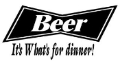 Beer Its Whats for Dinner Decal Sticker
