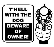 Beware of Owner Decal Sticker