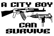 City Boy Can Survive Decal Sticker