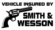 Insured by Smith and Wesson Decal Sticker